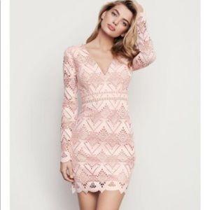 StyleStalker geometric lace long sleeve mini dress
